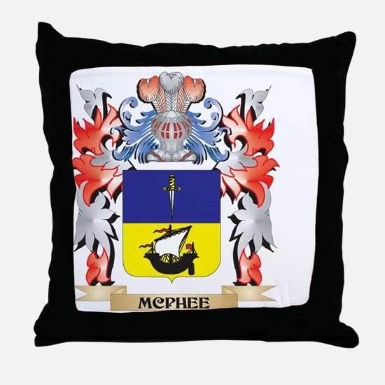 Mcphee Coat of Arms - Family Crest Throw Pillow