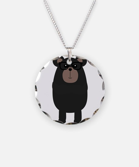 Nerd Black Bear Necklace
