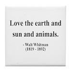 Walter Whitman 9 Tile Coaster