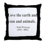 Walter Whitman 9 Throw Pillow