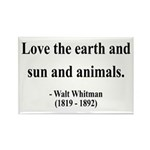 Walter Whitman 9 Rectangle Magnet (10 pack)