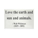Walter Whitman 9 Rectangle Magnet (100 pack)