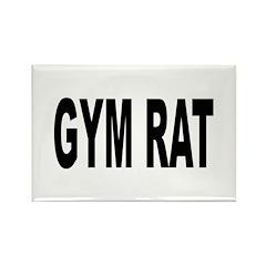 Gym Rat Rectangle Magnet
