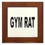 Gym Rat Framed Tile