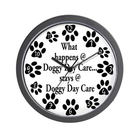 Doggy Day Care Wall Clock