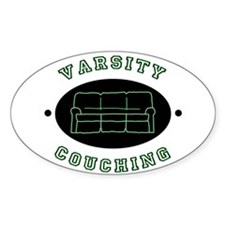 Varsity Couching Oval Decal
