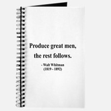 Walter Whitman 10 Journal