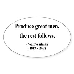 Walter Whitman 10 Oval Decal