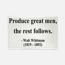 Walter Whitman 10 Rectangle Magnet