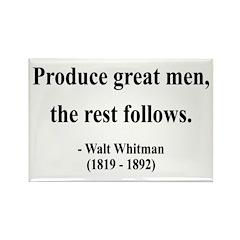 Walter Whitman 10 Rectangle Magnet (100 pack)