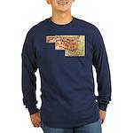 Flat Maryland Long Sleeve Dark T-Shirt