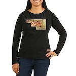 Flat Maryland Women's Long Sleeve Dark T-Shirt