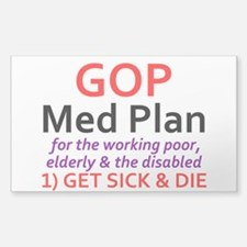 GOP MED PLAN Decal
