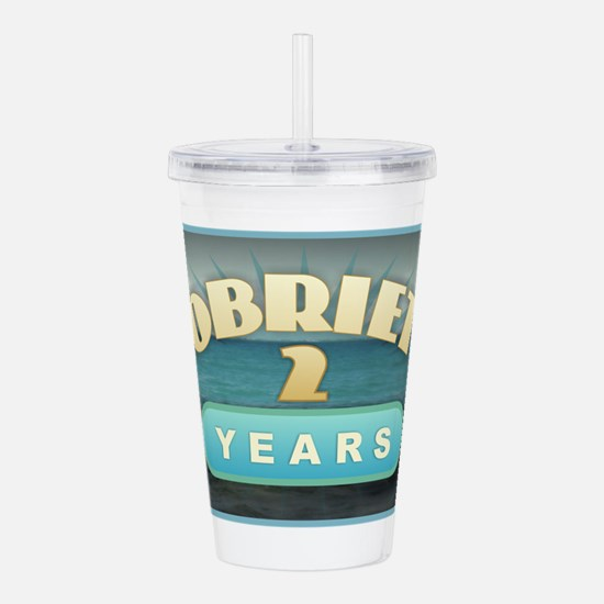 Sober 2 Years - Alcoho Acrylic Double-wall Tumbler