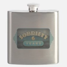 Sober 6 Years - Alcoholics Flask