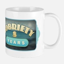 Sober 8 Years - Alcoholics Mugs