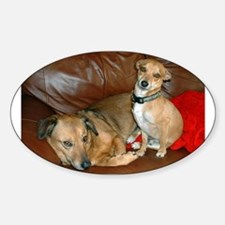 Cute No dogs on sofa Decal