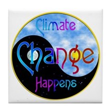 Climate Change Happens Tile Coaster