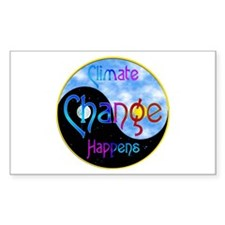 Climate Change Happens Rectangle Decal