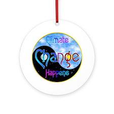 Climate Change Happens Ornament (Round)