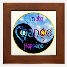 Climate Change Happens Framed Tile