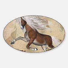 Wonerful wild horse with white mane Decal