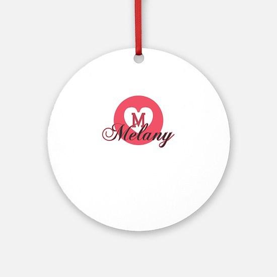 melany Round Ornament
