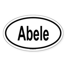 ABELE Oval Decal
