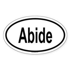 ABIDE Oval Decal