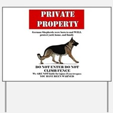 GSD property Yard Sign