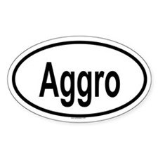 AGGRO Oval Decal