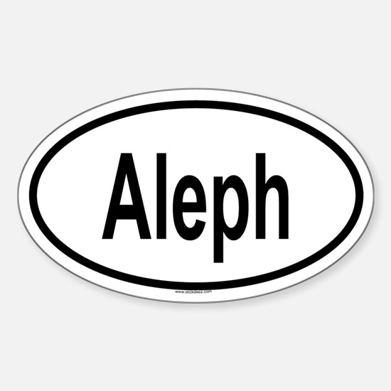 ALEPH Oval Decal