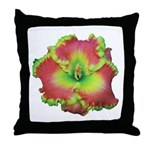 Pink w/ Green Edge Daylily Throw Pillow