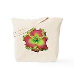Pink w/ Green Edge Daylily Tote Bag