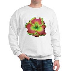 Pink w/ Green Edge Daylily Sweatshirt