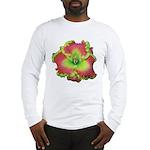 Pink w/ Green Edge Daylily Long Sleeve T-Shirt