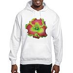 Pink w/ Green Edge Daylily Hooded Sweatshirt