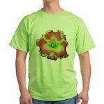 Pink w/ Green Edge Daylily Green T-Shirt