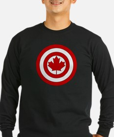 Captain Canada Shield Symbo Long Sleeve T-Shirt