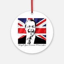 Cute Prime minister Round Ornament
