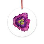 Lavender Eye Daylily Ornament (Round)