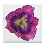Lavender Eye Daylily Tile Coaster
