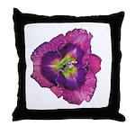 Lavender Eye Daylily Throw Pillow