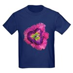 Lavender Eye Daylily Kids Dark T-Shirt
