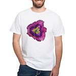 Lavender Eye Daylily White T-Shirt