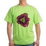 Lavender Eye Daylily Green T-Shirt
