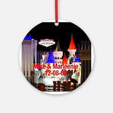 Mike & Marleenie Ornament (Round)