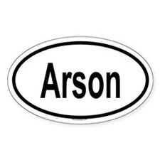 ARSON Oval Decal