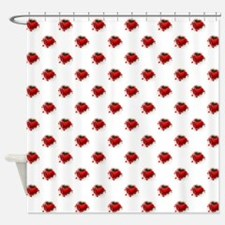 RED HEART CUP Shower Curtain