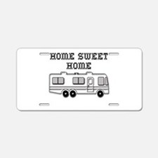 Home Sweet Home Motorhome Aluminum License Plate